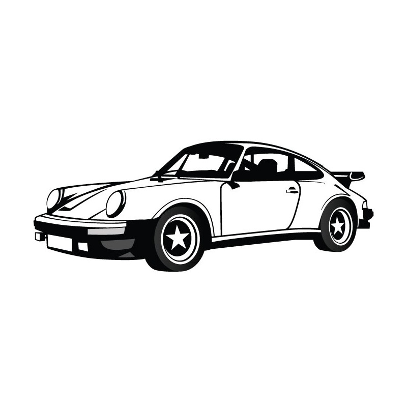 porsche 911 stickers deco dessin. Black Bedroom Furniture Sets. Home Design Ideas