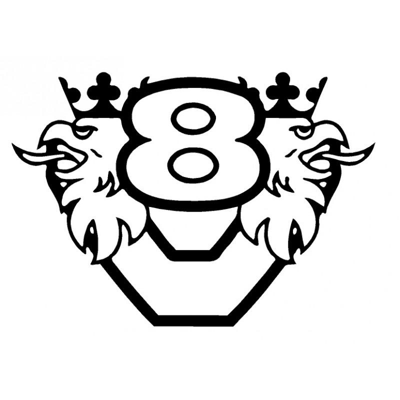 Scania Logo V8 Stickers